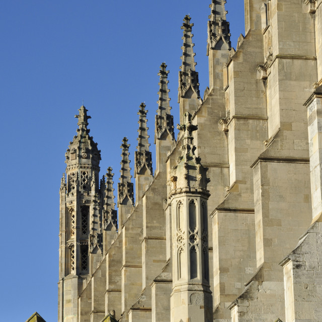 """King's College Chapel, Cambridge"" stock image"