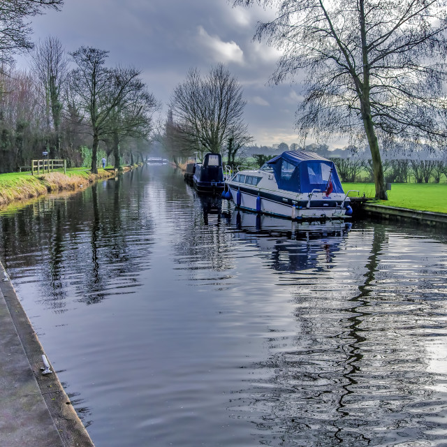 """On The Canal Ripon"" stock image"