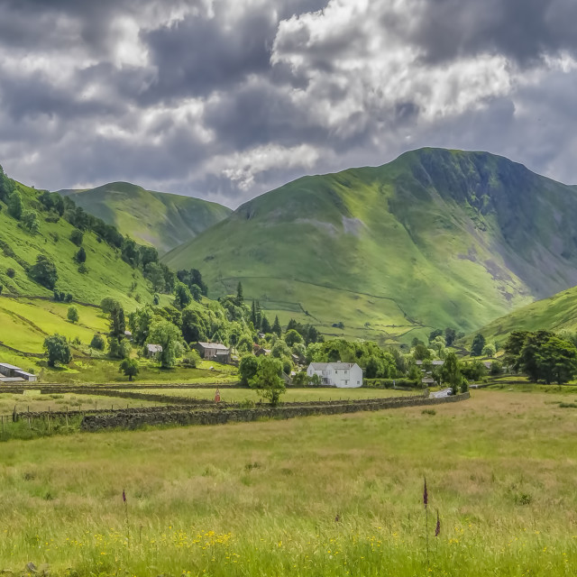 """Hartsop Village Lake District"" stock image"