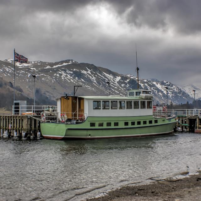 """Tourist Boat at Glennridding"" stock image"