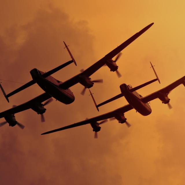 """Avro Lancasters"" stock image"