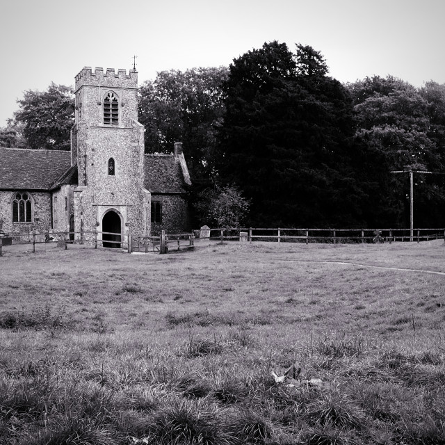 """Hampshire Church"" stock image"