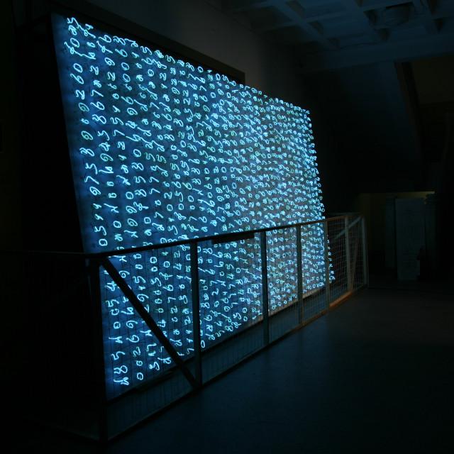 """Neon Installation"" stock image"