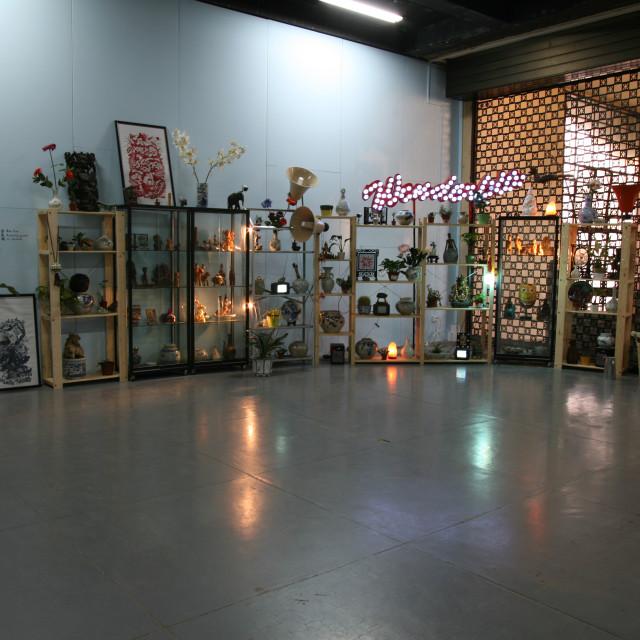 """Asian Art Installation"" stock image"
