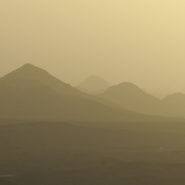 """Hazy golden sunset"" stock image"