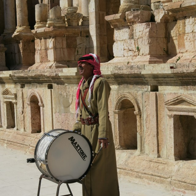 """""""Jerash drummer"""" stock image"""