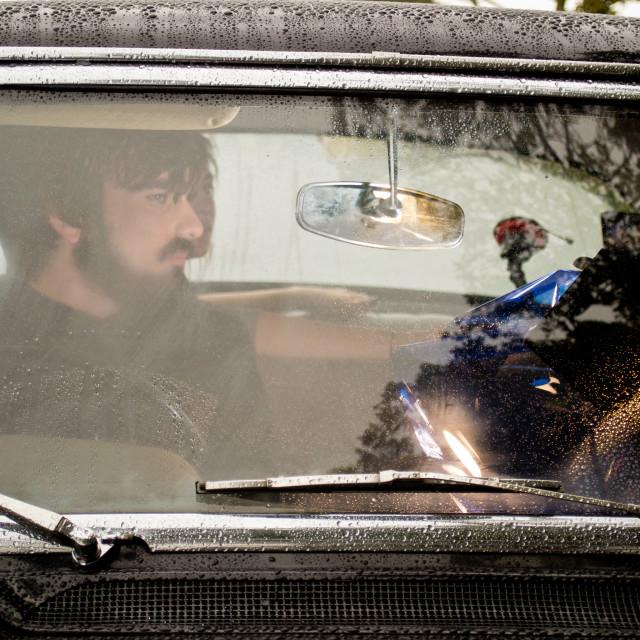 """Man Driving"" stock image"