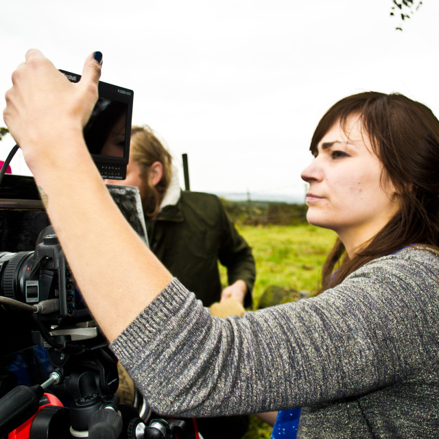"""Female Director Filming"" stock image"