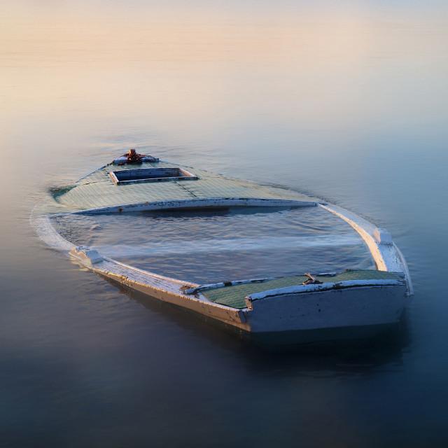 """sinking boat"" stock image"