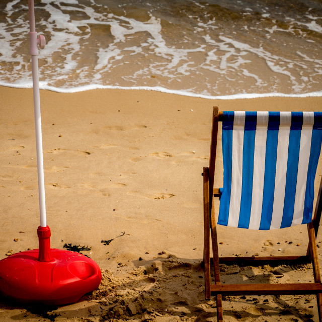"""Summer Deck Chair"" stock image"