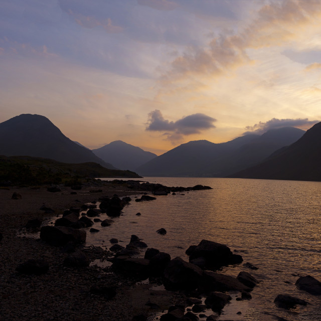 """Wast Water Dawn"" stock image"