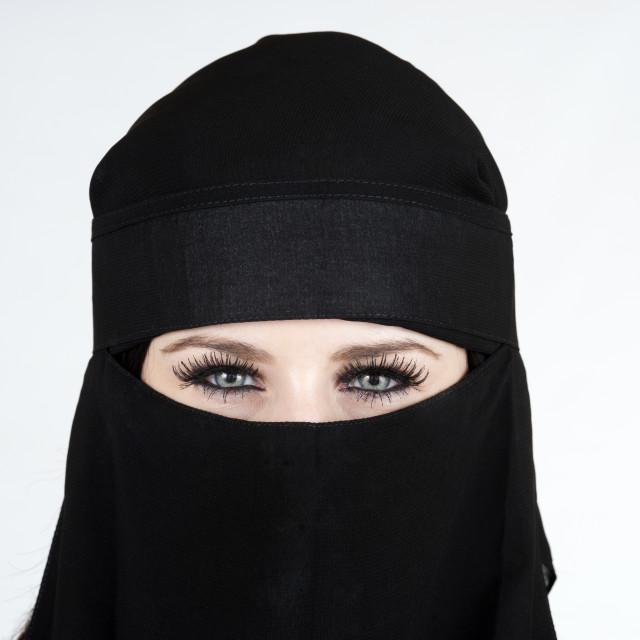 """Woman wearing a Niqab"" stock image"