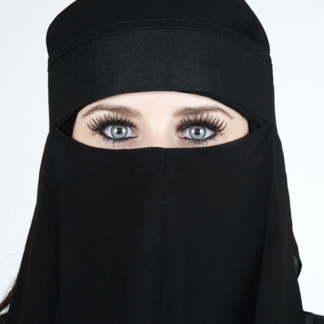 """Woman wearing a Niqab"" stock image"