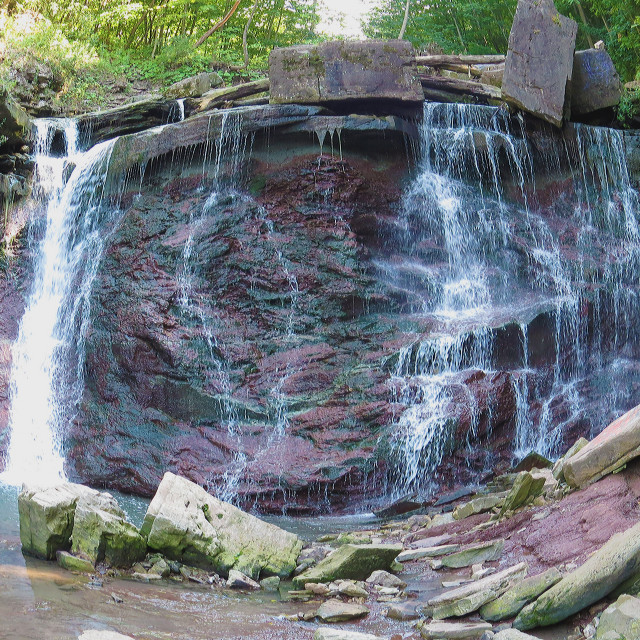 """Scenic Falls"" stock image"