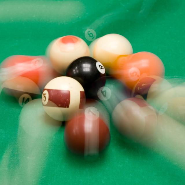 """Playing Billiard"" stock image"