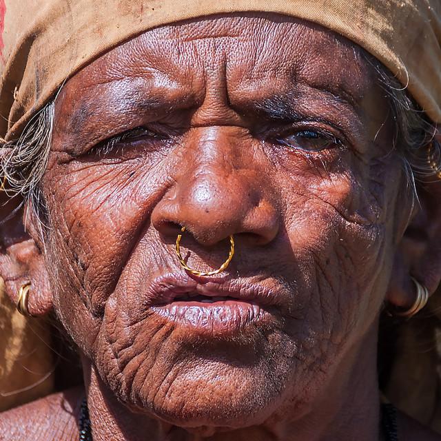 """portrait of rural woman"" stock image"