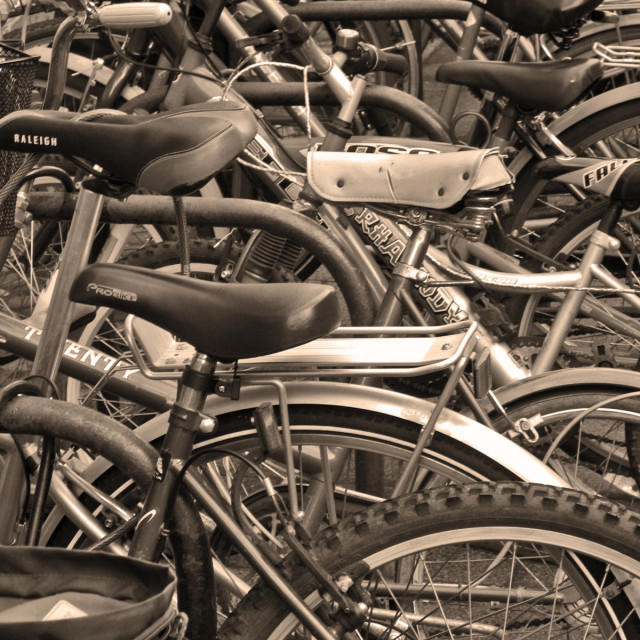 """Bicycles in Abstract"" stock image"