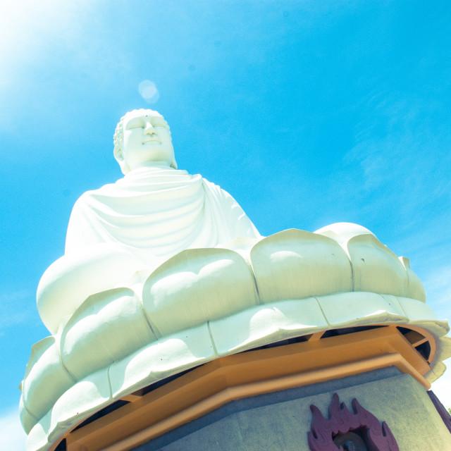 """White Buddha"" stock image"