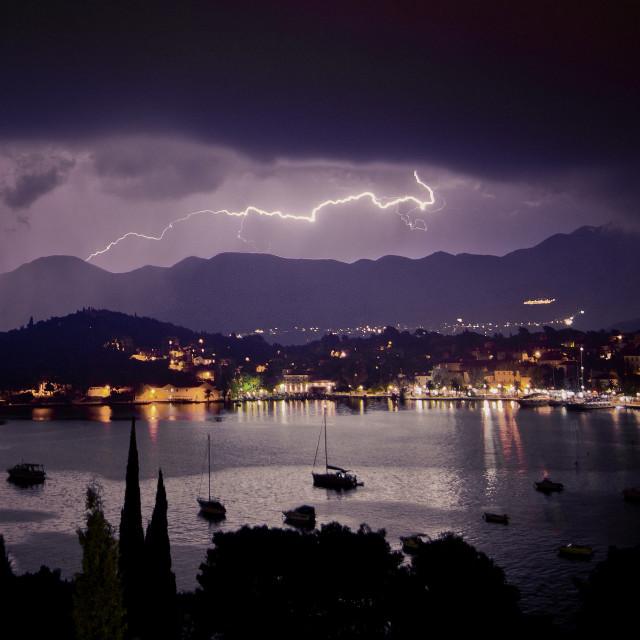 """""""Cavtat Lightning"""" stock image"""