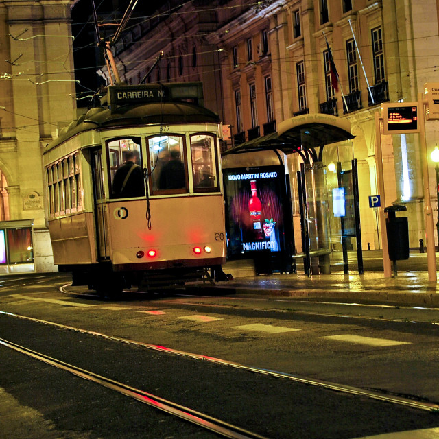 """Lisbon Street Car"" stock image"