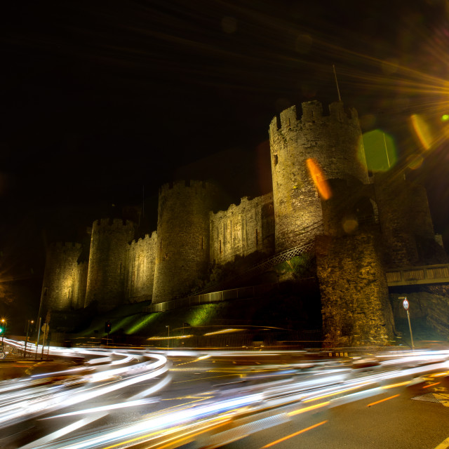 """""""Conwy Castle"""" stock image"""