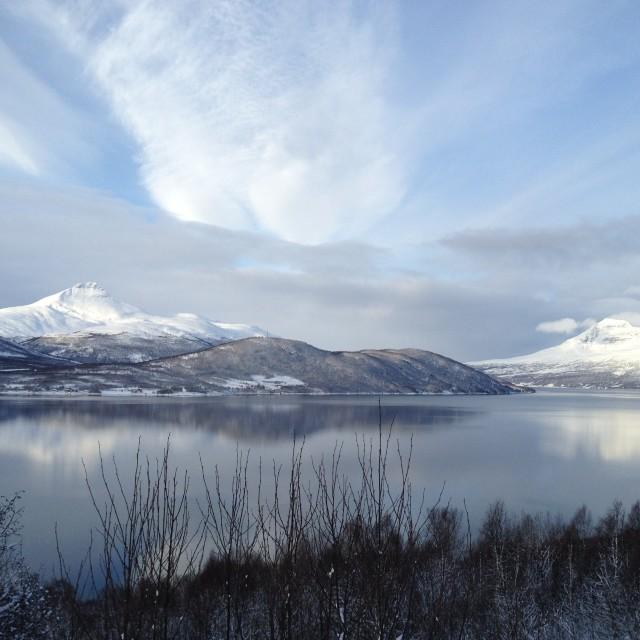"""""""Fjord near Tromso"""" stock image"""