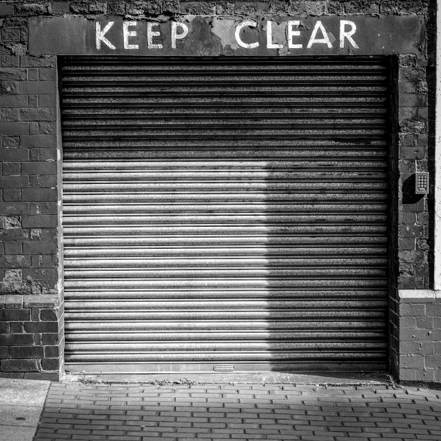 """Keep Clear!"" stock image"