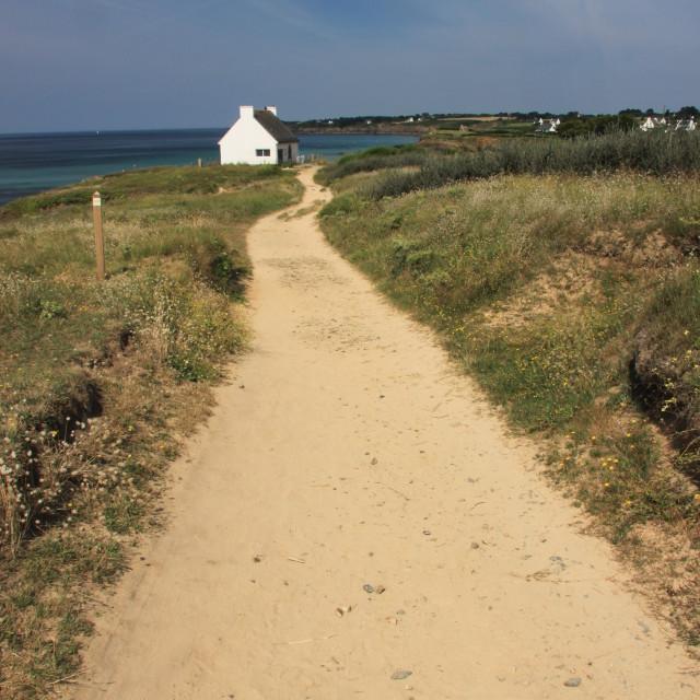"""Brittany Coastal Path"" stock image"