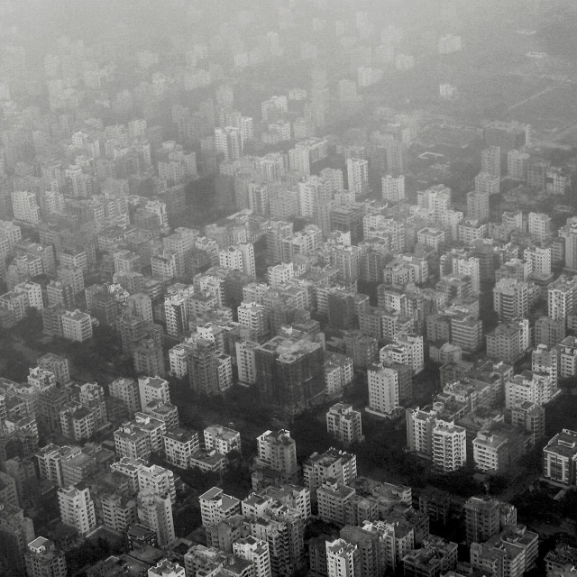 """Aerial View of Dhaka"" stock image"