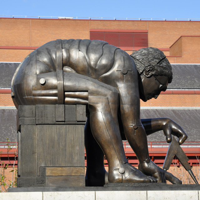 """Isaac Newton, British Library, London"" stock image"