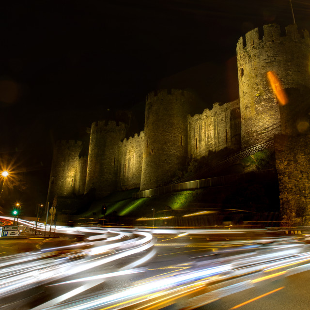 """Conwy Castle"" stock image"