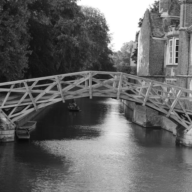 """""""Mathematical Bridge- Queens' College Cambridge"""" stock image"""