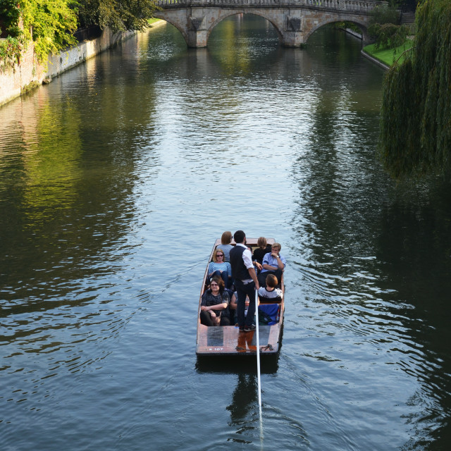 """Punting on the Cam"" stock image"