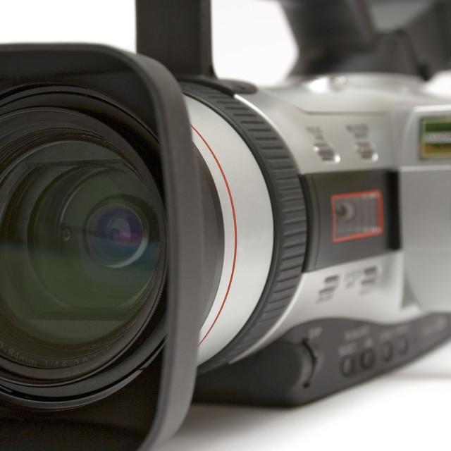 """Digital Video Camera Close-up"" stock image"