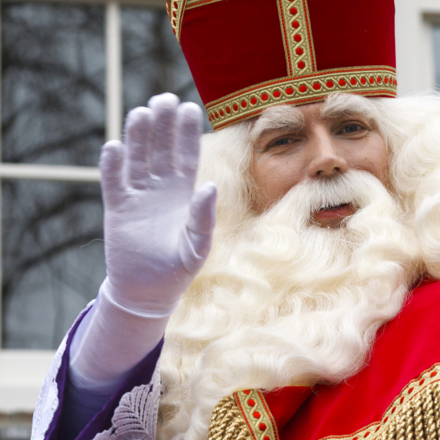 """""""Saint Nicholas waving"""" stock image"""