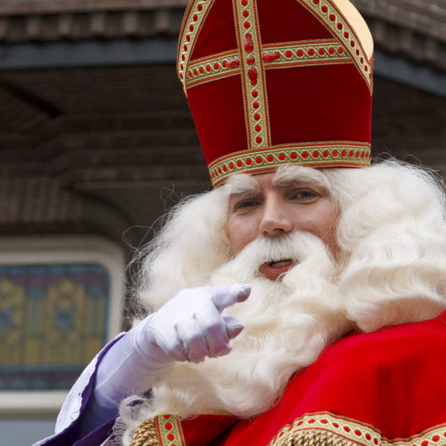 """Saint Nicholas pointing"" stock image"