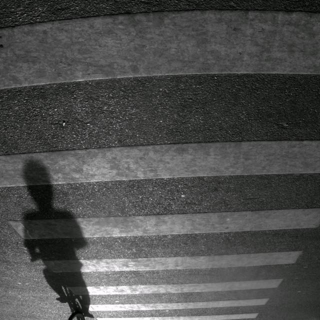 """""""Shadow of biker"""" stock image"""