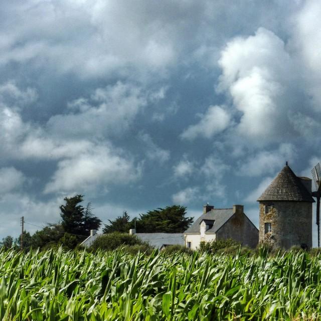 """Breton Windmill"" stock image"