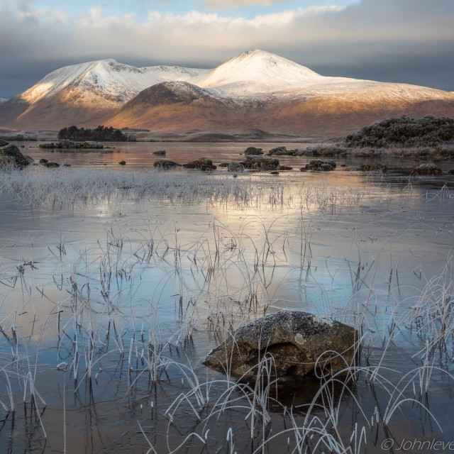 """Lochan na h-Achlaise"" stock image"