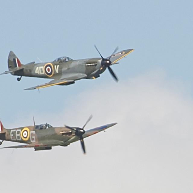 """Supermarine Spitfires Aircraft"" stock image"