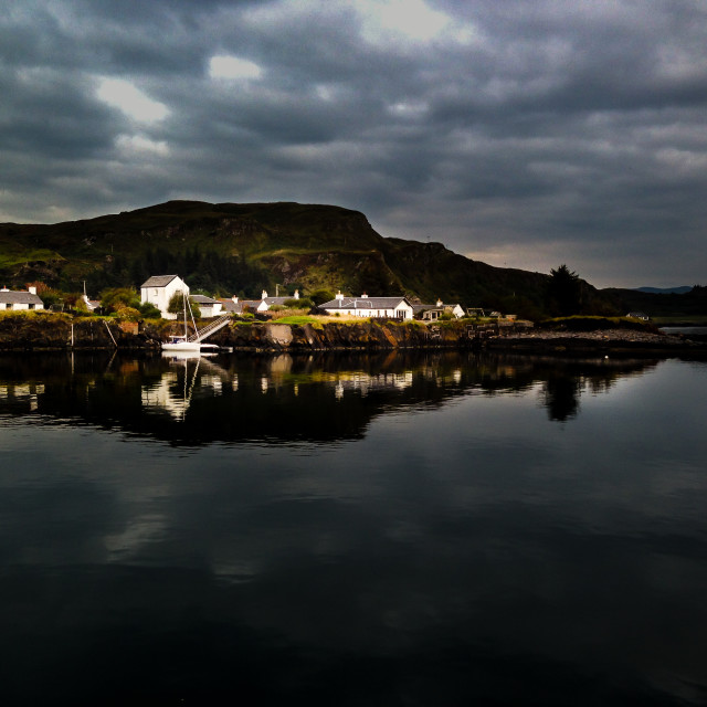 """Easdale after the Storm"" stock image"