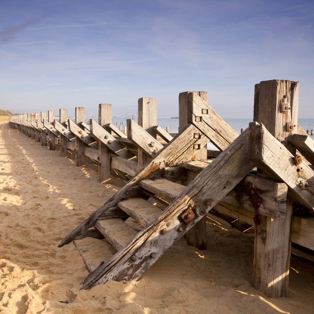 """Hopton sea defence"" stock image"