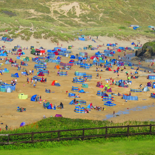 """""""Perranporth in the Summer"""" stock image"""