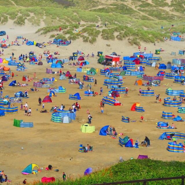 """""""Perranporth in the Summer 2"""" stock image"""