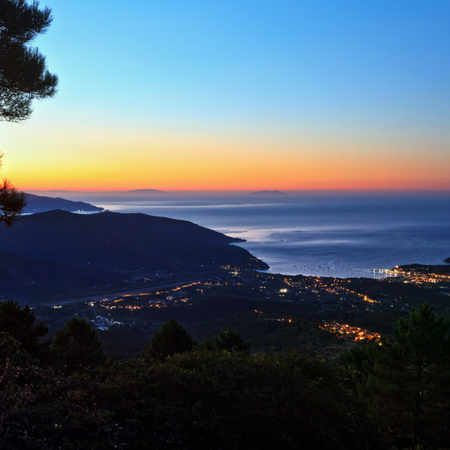 """dawn in Elba island"" stock image"