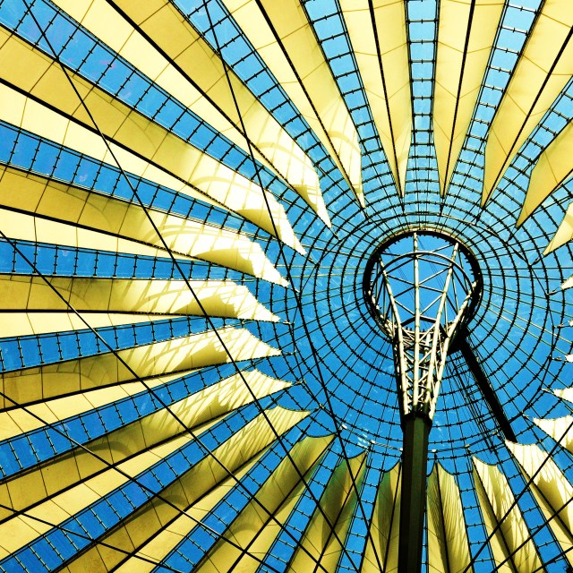 """Sony Center Roof"" stock image"