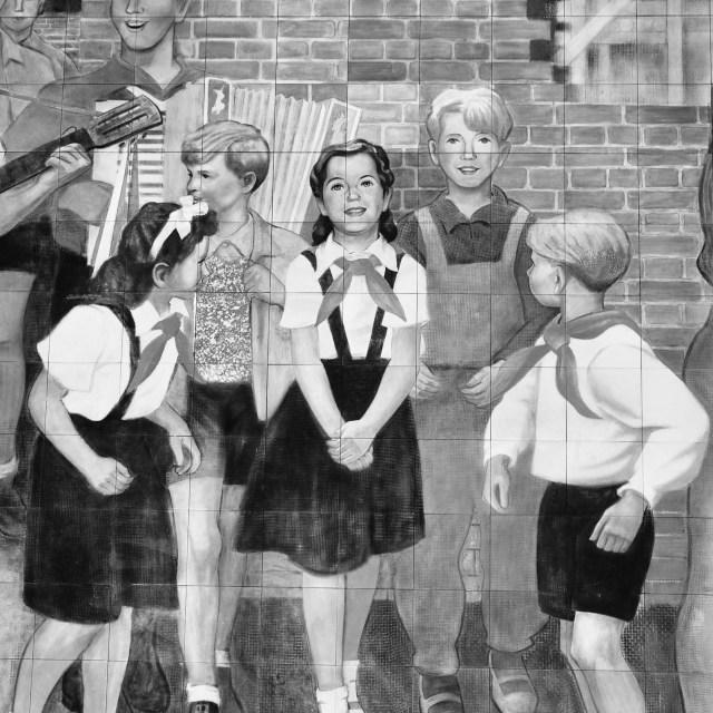 """Soviet Era Mural"" stock image"