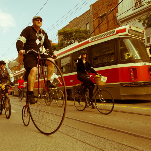 """Tweed Ride Toronto"" stock image"