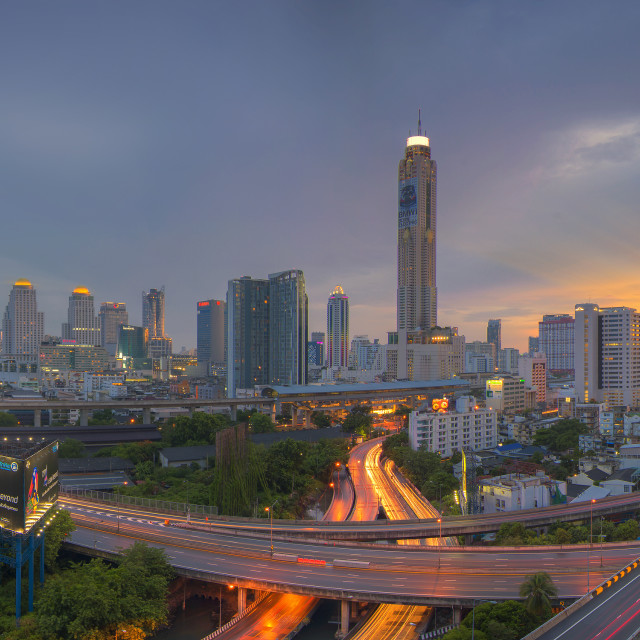 """Baiyok tower at Bangkok city."" stock image"