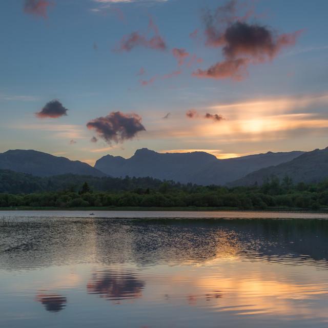 """Elterwater sunset"" stock image"
